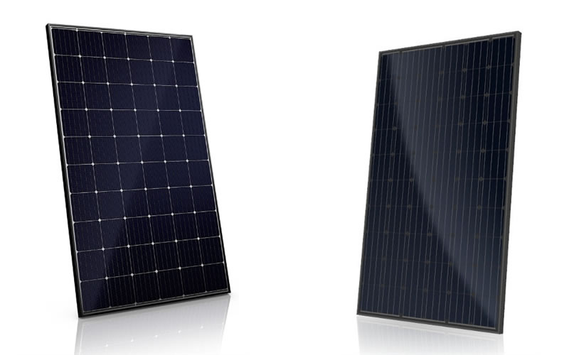 Mono and Poly All Black Frame Residential Solar Panels