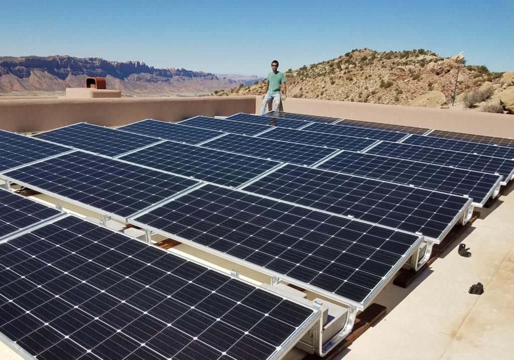 Solar on flat roof Utah
