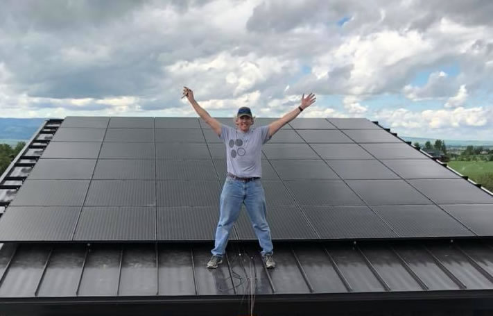 Black Solar Panels Wyoming