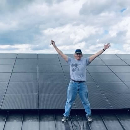 Successful Metal Roof Solar Installation